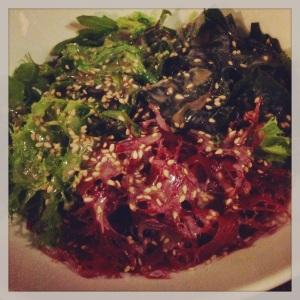 Algues (seaweed sesame dressing)